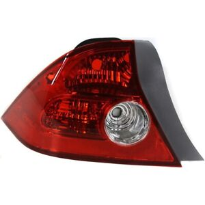 Tail Light For 2004 2005 Honda Civic Driver Side Coupe
