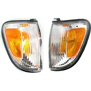 Side Marker Parking Turn Signal Corner Lights Pair Set For 97 00 Tacoma Pickup