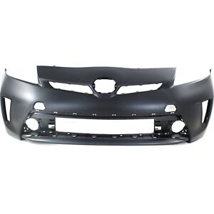 Front Bumper Cover For 2012 2015 Toyota Prius W Fog Lamp Holes Primed