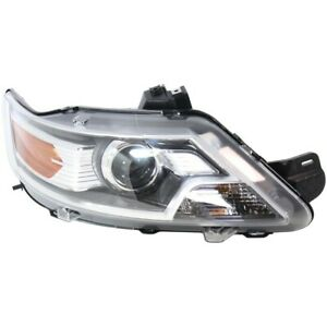 Headlight For 2010 2012 Ford Taurus Passenger Side W Bulb