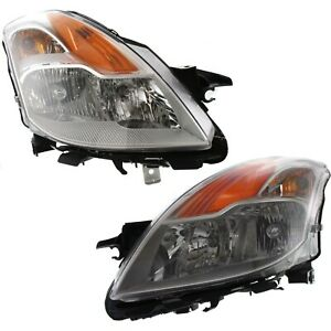 Headlight Set For 2008 2009 Nissan Altima Coupe Left And Right With Bulb 2pc