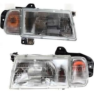 Headlight Set For 90 97 Geo Tracker Tracker 1998 1998 Left Right W Bulb
