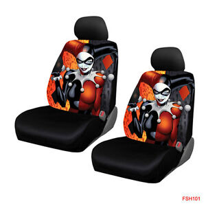 New Suicide Squad Harley Quinn Laughs Car Truck 2 Front Seat Covers Set