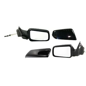 Set Of 2 Mirror Manual Remote For 2008 2011 Ford Focus Left And Right