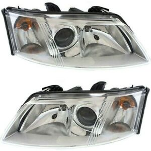 Headlight Set For 2003 2007 Saab 43711 Left And Right With Bulb 2pc