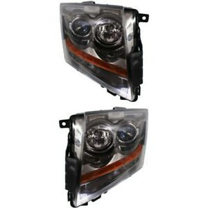 Headlight Set For 2008 2015 Cadillac Cts Left And Right With Bulb 2pc