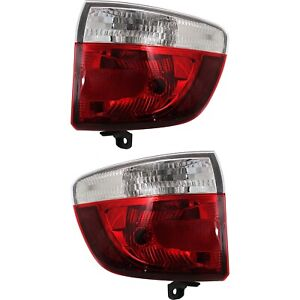 Pair Tail Light For 2011 2013 Dodge Durango Lh Rh Outer Body Mounted