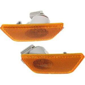 Front Bumper Mounted Side Marker Light Assembly Lh Rh Pair For Chevy Cruze New