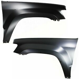 Fender Set For 2005 2010 Jeep Grand Cherokee Front Primed Steel 2pc