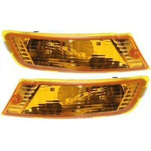Turn Signal Light For 2005 2007 Jeep Liberty Plastic Lens Left Right Set Of 2
