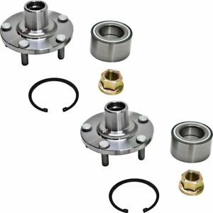 Set Of 2 Front Wheel Hubs With Bearing For Nissan Maxima Altima Infiniti I30 I35