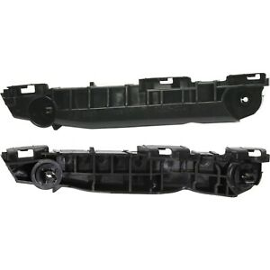 Bumper Bracket Set For 2007 2011 Toyota Yaris Front Plastic Black 2pc