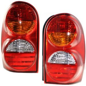 Set Of 2 Tail Light For 2002 2004 Jeep Liberty Sport Lh Rh W Bulb S