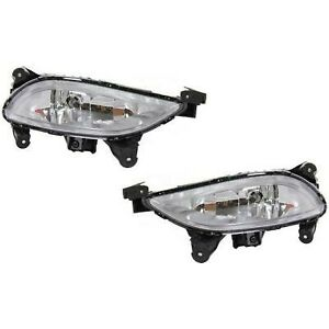 Fog Light Set For 2011 2013 Hyundai Sonata Front Halogen With Bulb 2pc