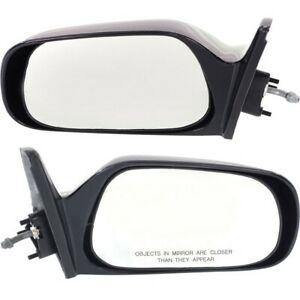 Set Of 2 Mirror Manual Remote For 1988 1992 Toyota Corolla Left Right Paintable