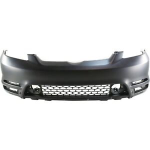 Bumper Cover For 2003 2004 Toyota Matrix Front Plastic Primed With Spoiler Holes