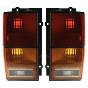 Halogen Tail Light Set For 1984 1996 Jeep Cherokee Amber Clear Red Lens 2pcs