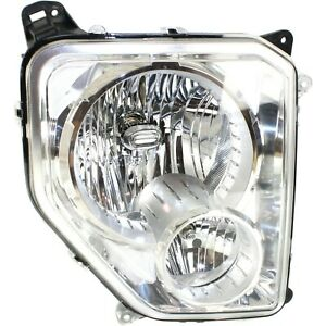 Headlight For 2008 2012 Jeep Liberty Right Chrome Housing With Fog Light