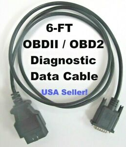 Replacement Obd2 Obdii Scanner Data Cable 4 Actron Elite Autoscanner Pro Cp9190
