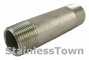 Stainless Steel Pipe Nipple 1 X 6 Type 304 18 8 Stainlesstown
