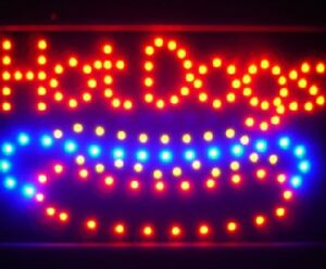 10 19 Animated Motion Led Hot Dogs Sign Onoff Switch Bright Open Light Neon