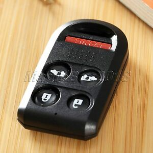 Replace 5 Buttons Keyless Entry Remote Key Shell For Honda Odyssey Car Key Case