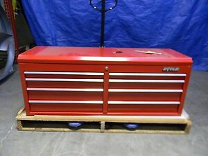 Waterloo Tool Storage Box Case Chest 8 Drawer Red Steel pch 528rd