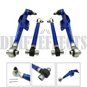 Blue Fits 95 98 240sx S14 S15 Front Lower Control Arm High Angle Ha Tension Rod