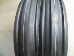 Two 350x8 350 8 3 50 8 Cub Cadet Triple Rib Front Tractor Tires With Tubes