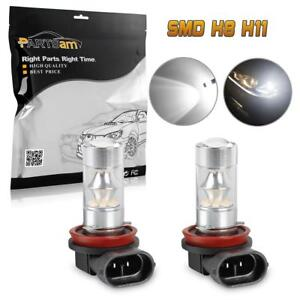 2pcs High Power White H8 H11 Led Fog Driving Light 100w Bulb Replace Halogen