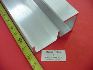 8 Pieces 3 x 1 75 Aluminum Channel 6061 X 26 Flang 14 Long T6 Mill Stock