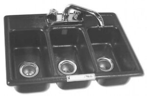 3 Compartment Drop in Mini Sink Nfs Approved Triple Concession New Bhs 1318