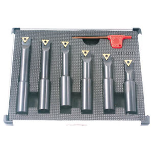 6 Piece 5 8 Round Shank Indexable Boring Bar Set 1001 0711