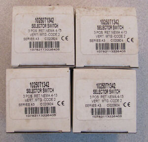 Lot Of 4 Cutler hammer 10250t1342 Selector Switch Operator With Cap Non ii