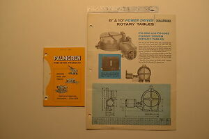 j101 Palmgren Usa Rotary Table Flyer And Machine Vises And Tables Catalog 1970