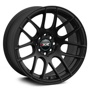 Xxr 530 16x8 Rims 4x100 114 3 20 Black Wheels set Of 4