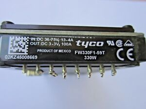 Tyco Fw330f1 59t Power Module Dc dc Converter In 36v 75v 13 4a Out 3 3v 100a