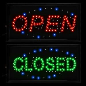 10 19 Animated Motion Led Business 2 in 1 Open Closed Sign Onoff Switch Light