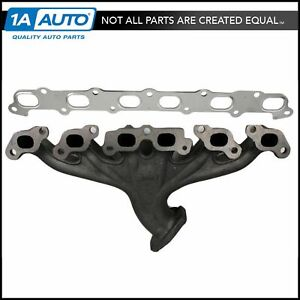 Exhaust Manifold W Flange Gasket Set Kit For Trailblazer Envoy Bravada 9 7x