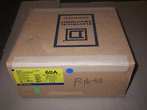 New Square D 82342 60 Amp Manual Transfer Switch Double Throw Type 1 Enclosure