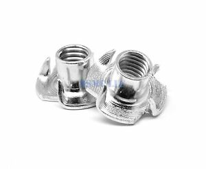 8 32 X 1 4 Coarse Thread Tee Nut 3 Prong Low Carbon Steel Zinc Plated Pk 4500