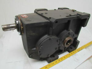 302 1 Ratio 5 8 Rpm Large Combo Worm Spur Gear Box Speed Reducer Iron Case 132lb