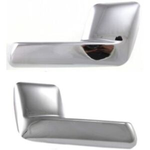Interior Door Handle For 2003 2006 Ford Expedition Set Of 2 Chrome Plastic