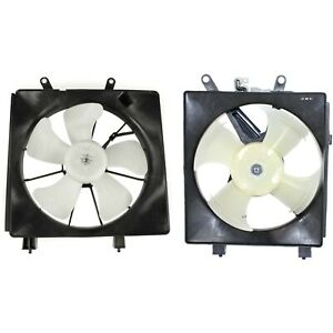 Radiator Cooling Fan W A c Condenser Fan For 2001 2005 Honda Civic Left Right