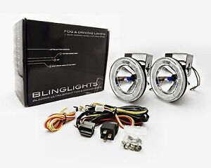 Blinglights 4 Inch 101mm Round Blue Angel Eye Fog Lamps Driving Light Kit 70w