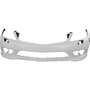 Bumper Cover For 2008 2011 Mercedes Benz C300 With Parktronic Holes Front
