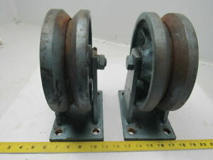 8 All Steel Fixed Caster2 3 4 V Groove Tread 10 1 4 Tall Lot 2