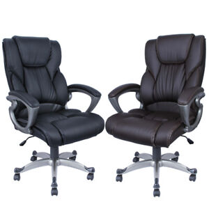 Executive Office Chair High back Task Ergonomic Computer Desk Study Pu Leather