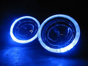 Blue Halo Fog Lamps Angel Eye Driving Lights Kit Pair For 2014 2019 Kia Soul