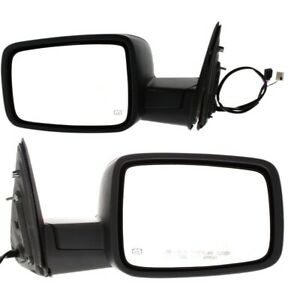Power Mirror Set Of 2 For 11 12 Ram 1500 Heated Manual Folding With Puddle Light
